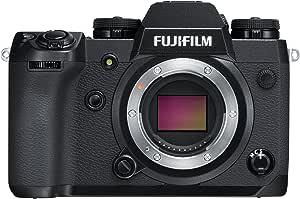 """Fujifilm X-H1 Fotocamera Digitale da 24 MP, Stabilizzatore IBIS, Sensore X-Trans cmos III APS-C, Mirino EVF 3.69 MP, Schermo LCD 3"""" Touch Orientabile, Ottiche Intercambiabili, Nero"""