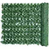 PNNP Artificial Ivy Fence Screening Artificial Hedges Panels Roll, Trellis with Artificial Leaves Garden Privacy Screens…