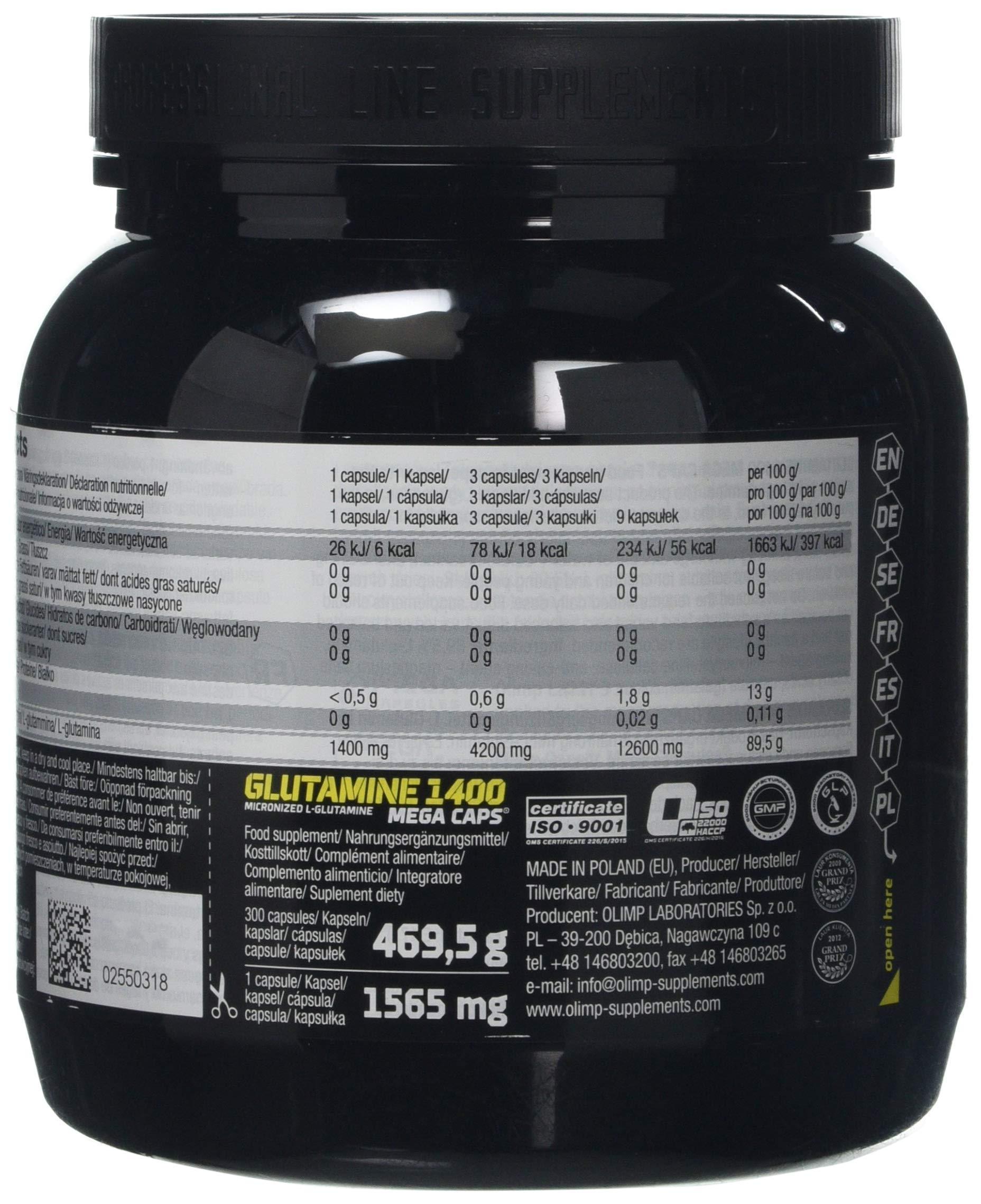 81mSnimVvkL - Olimp Sport Nutrition L-Glutamin Mega Caps-300Caps