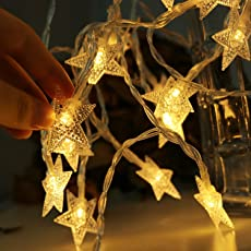 Beauty Lights 3 Meters 20 Led Christmas Star Led String Lights Warm White 3 Aa Battery Operated Ip65 Waterproof Battery Box