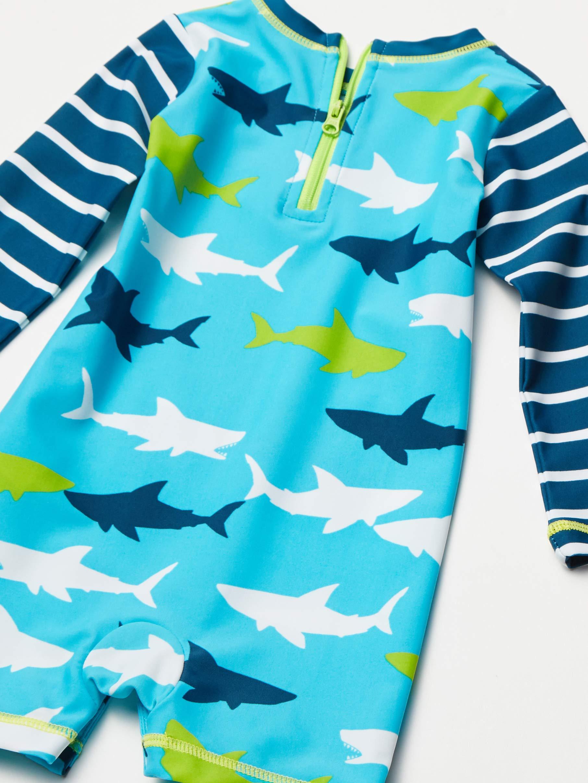 Hatley One Piece Rash Guard Swimsuits Traje de baño de una Pieza para Bebés 2