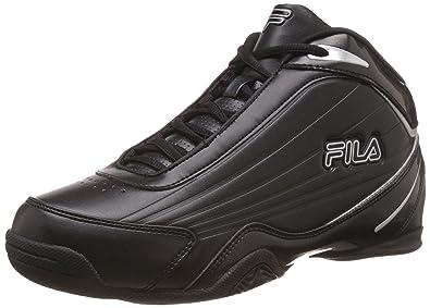 fila basketball shoes 2015. fila men\u0027s slam 12c black and metallic silver basketball shoes -6 uk/india ( 2015 n