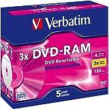 Verbatim DVD-Brenner Medien DVD-RAM 3fach, einseitig, 4,7GB Schwarz