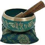 Meditation-Klangschalen buddhistische Kunst grün tibetischen Dekor 10 Cm