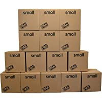 StorePAK Small Storage Boxes - Archive Cardboard Boxes with Handles - 100% Recyclable, 31 litres - H35 x W35 x D25cm (Pack of 15)