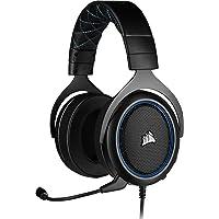 Corsair HS50 Pro Stereo Gaming Headset (Anpassbare Memory-Schaumstoff Ohrmuscheln, Federleichtes Design, Abnehmbares Rauschunterdrückung-Mikrofon, für PC, Xbox One, PS4, Switch und Mobilgeräte) blau
