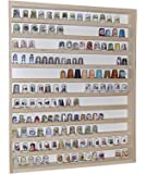 Alsino V75 Vetrina espositiva | 41 x 52 x 5 cm | in Legno di Betulla Non trattato | 11 Ripiani | 2 Ante plexiglass scorrevoli | Modellismo | Collezionismo | Ditali