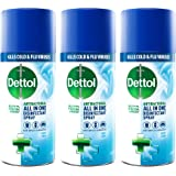 Dettol All-in-One Disinfectant Spray Crisp Linen, 400 ml, Pack of 3 (Packaging May Vary)