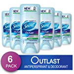 Secret Antiperspirant Deodorant for Women, Unscented, Clear Gel, Outlast Xtend, 2.6 Oz Pack of 6