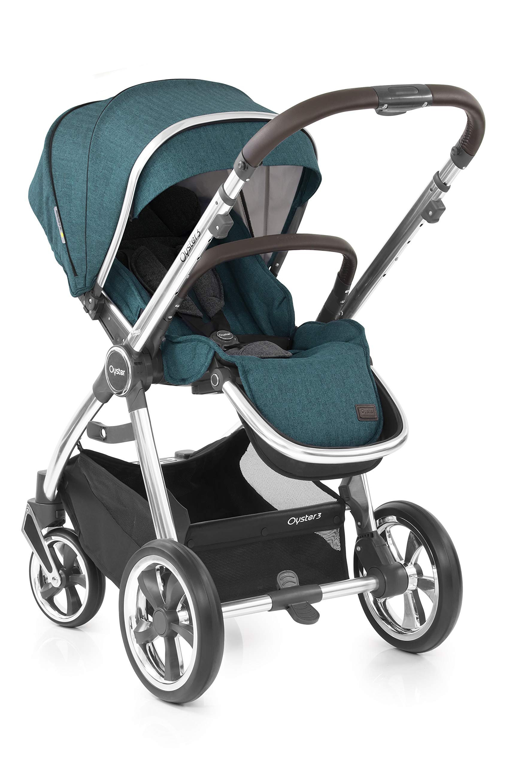 Babystyle Oyster3 Pushchair in Peacock Mirror Chassis Babystyle  1