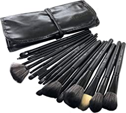 Puna Store 18 Piece Makeup brush Set (black)