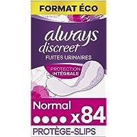 Always Discreet, Protège-Slips Normal, Protection Intégrale, Format Eco x84 (3 packs de 28 unités)