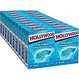 Hollywood Icefresh - Chewing-gum sans sucres parfum Menthe Fraîche - Boîte de 20x10 dragées