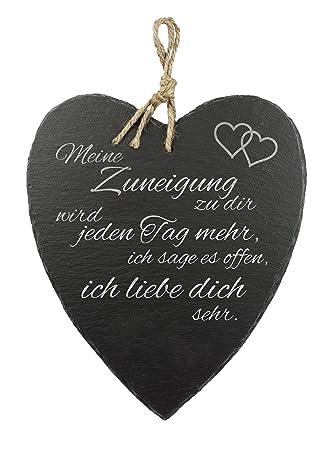 Schieferherz Mit Gravur Und Spruch U2013 Liebe U2013 Standard U2013 Schöne Wanddeko Als  Hochzeitsgeschenk U2013 Geschenkideen