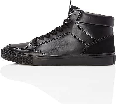 Marchio Amazon - find. Sneaker a Collo Alto in Pelle Uomo