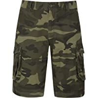 Mountain Warehouse Mens Camo Cargo Shorts - 100% Cotton Twill Short Trousers, Lightweight Pants, Breathable, Durable…
