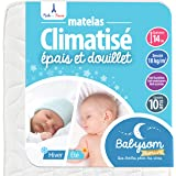 Babysom - Babymatratze | Kindermatratze Sommer/Winter - 70x140cm - Atmungsaktiv - Bezug abziehbar - Luftdurchlässiger Kaltschaum - Höhe 14cm