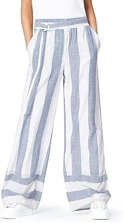Marchio Amazon - find. Pantalone in Lino a Palazzo Donna