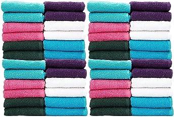 Casa Copenhagen-Basics Set of 100 Pcs Face Towels-(Assorted Any 100 Pcs Face Towels