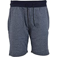 Men's Cross Chain Jogging Fleece Shorts with Zip Pockets