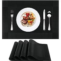 Sets de Table en PVC (4 Sets) , Sets de Table Antidérapants, lavables, résistants à la Chaleur, Facile à Nettoyer et…