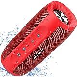 Enceinte Bluetooth, Enceintes d'extérieur Stéréo sans Fil avec Powerbank 20 Heures d'Autonomie Pilote Double 20W Bluetooth 5.