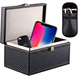 Car Key Signal Blocking Box, Homealexa Large Faraday Box 19 x 13 x 10cm for Keyless Entry Fob RFID Blocking Box, Fob…