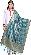 Kanchnar Women's Poly Silk Woven Banarasi Dupatta