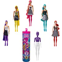 Barbie Color Reveal -Serie Monocolor, Bambola con 7 Sorprese, Assortimento Casuale, Giocattolo per Bambini 3+ Anni…
