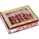 HomeStrap 4 Rod Brocade Design Bangle Storage Box/Chudi Set Organizer (Maroon|Pack of 1)