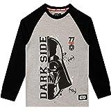 Star Wars Camiseta de Manga Larga para niños La Guerra de Las Galaxias Darth Vader