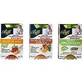 Biffi Mix di 3 Sughi 100% Vegetale: Ragù di Soia 190g, Sugo ai Funghi Porcini Veg 190g, Pesto Veg Senza Formaggio 190g.