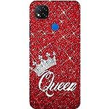Amazon Brand - Solimo Designer Queen On Red Glitter 3D Printed Hard Back Case Mobile Cover for Mi Redmi 9