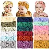 18 قطعة من أربطة الرأس من النايلون للأطفال الرضع ربطات شعر مطاطية لربطات الشعر للأطفال البنات حديثي الولادة والأطفال الصغار (