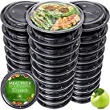 Boite Repas [Lot de 30] Meal Prep Containers - Réutilisables Boites Alimentaires pour Préparation des Repas - Étanche Barquet
