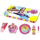 SOY LUNA Beauty-Set in stylischer XL Metalldose, 1er Pack (Metallbox, Lipgloss-Tube, Lippenstift, Duo-Lidschatten-S)