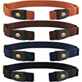 Syhood 4 Pezzi No Fibbia Stretch Cintura Senza Fibbia Cintura Invisibile Cintura Elastica Unisex per Jeans Pantaloni