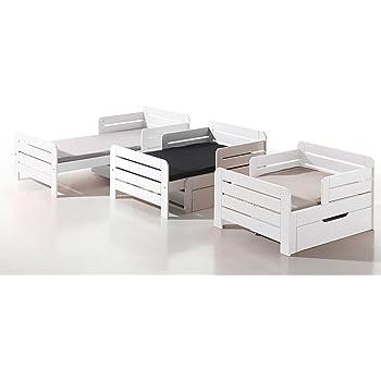 Alfred Compagnie Soldes Lit Evolutif 90x140 170 200 Leia Blanc
