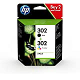 HP 302 Multipack X4D37AE Confezione da 2 Cartucce Originali, per Stampanti HP DeskJet serie 1100, 21...