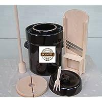 Pot à choucroute en grès pour la lactofermentation 10 litres+Mandoline,Pilon