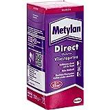 Metylan Direct vliesbehanglijm, hoogwaardige lijm voor direct aanbrengen op de muur, behanglijm voor glad en reliëf behang, v
