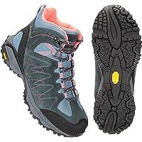Mountain Warehouse Rockies Womens Waterproof Vibram Boots - Cow Suede Upper Ladies Footwear, Bumpers, Durable Shoes…
