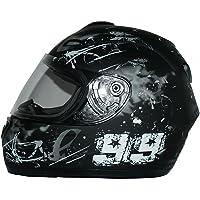 Protectwear Moto casco nero / grigio Disegno 99 FS-801-99, Taglia S