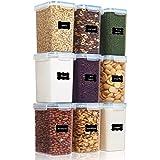Vtopmart 2.0L Spannmålsbehållare för förvaring, plast BPA-fritt kök skafferi mjöl förvaring