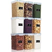 Vtopmart 2L boîtes de Conservation Alimentaire sans BPA de Nourriture en Plastique avec Couvercle,Ensemble De 9+24…