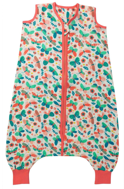 Slumbersac–Saco de dormir de gasa con pies aprox. 0.5Tog–BUTTERFLY- disponible en 4tamaños