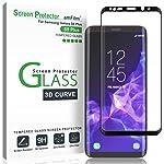 Protector de Pantalla Galaxy S9 Plus, amFilm Anti-Burbujas Cristal Vidrio Templado Protector de Pantalla para Samsung...