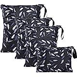 WD&CD natte tas, 4 STKS doek luier natte zakken waterdichte herbruikbare natte droge tas voor baby luier reizen strand zwemba