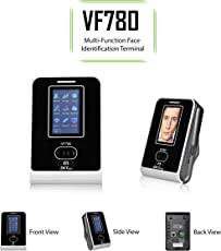 ZKTeco 3 Inch Touch Screen Biometric Face &RFID Card Verification Time Clock & Attendance and Access Control Terminal VF780 with TCP/IP,USB Host&Client Communication