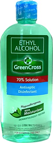 Green Cross Ethyl Alcohol 70% Solution, 250ml